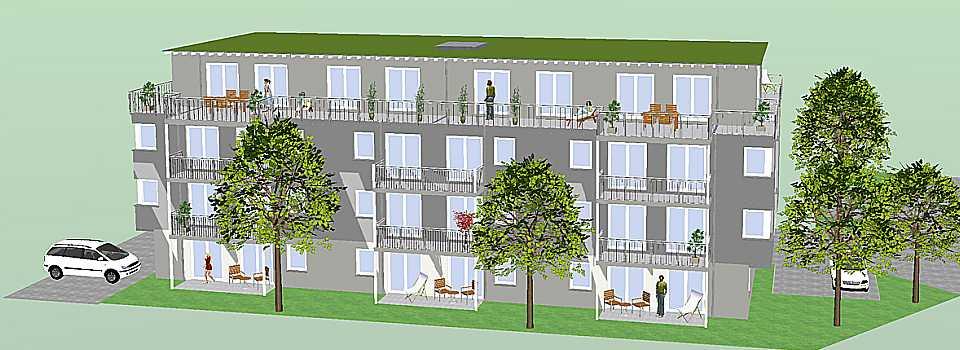 Wohnraum Studentenwohnheim Friedrichshafen Seitenansicht2